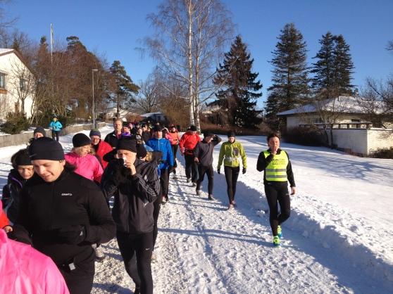 En vätskepaus under rundan ute på Djursholm. Fantastiskt väder!!