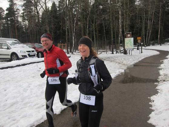 På slutet av varv fyra kom Janne ifatt mig och jag fick trevligt sällskap resten av det varvet.