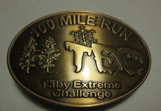 Det åtråvärda spännet som är ett bevis på att man faktiskt har tagit sig 100 miles.