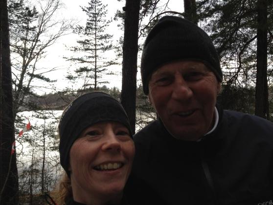 Fantastiska herr Strömlid och jag, efter jag vet inte hur många möten där ute i skogen!