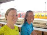 Jag och Kristina då vi gjorde en provlöpning från Norrköping och hem mot Stockholm