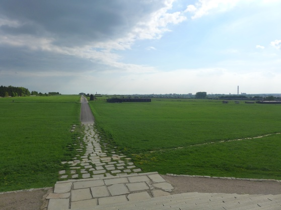Koncentrationslägret Majdanek, nästan helt intakt sen andra världskriget. 78 000 dog här.