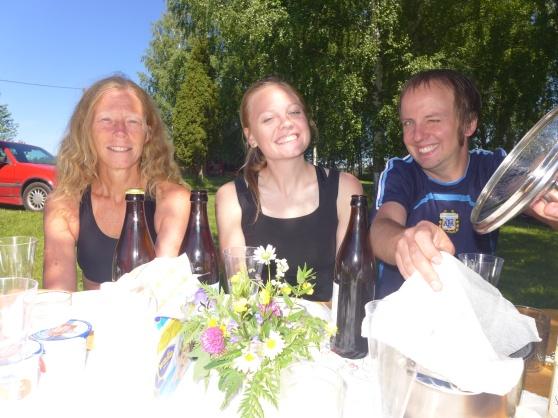 Midsommarfirande, jag, Erika och Jonas