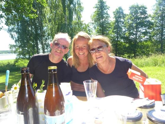 Midsommarfirande, Janne, Kristina och Karin