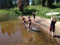 Målgången i Tenala blev magisk!! Strålande sol, varmt i vattnet och så vänner som gjorde ögonblicket så minnesvärt!