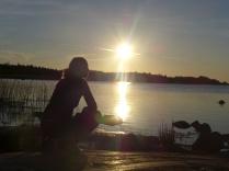 En solnedgångsbild till kan väl aldrig skada :)