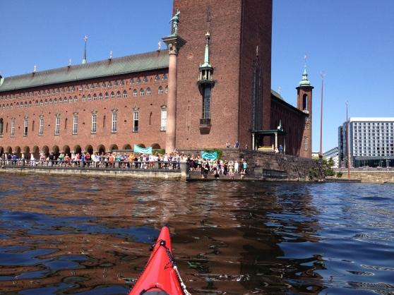 Stadshuset lördagen den 13 juli 2013 sett från min kajak :)!