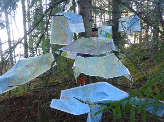 Titta en julgran! Eller kanske det är en karttall... Kartorna blev faktiskt lite torrare :).