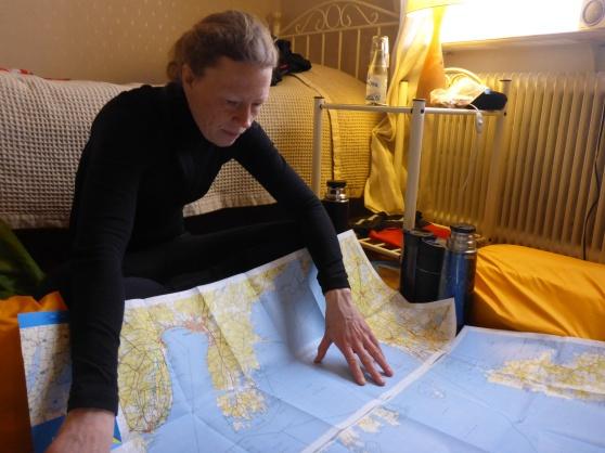 Lite planering över paddlingen som ska göras över Vänern. Här inser man hur sjukt stor Vänern är!!!