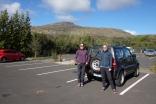 Här har vi börjat på vår resa genom Island. Här befinner vi oss vid Geysir för att turista lite.