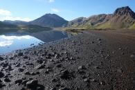 Vi fick stanna stup i ett för det var så vackert! Här är vi på väg från Landmannalaugur mot Skaftafell.