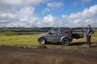 Vår fina lilla jeep som säkert tog oss genom det Isländska landskapet.