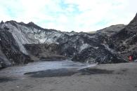 Vid foten av Solhejmajökul, ännu en glaciärflod.